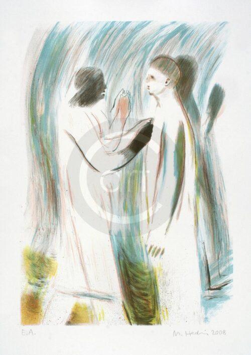 Sterntaler Nr 6 Michael Hedwig Bild Farblithografie