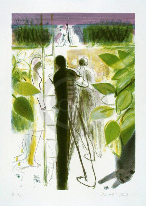 Sterntaler Nr 8 Michael Hedwig Bild Farblithografie