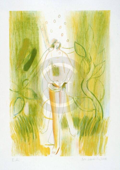 Sterntaler Nr 9 Michael Hedwig Bild Farblithografie