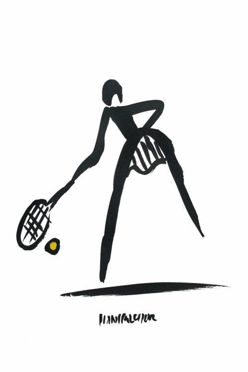 Hans Salcher Painting: Tennis