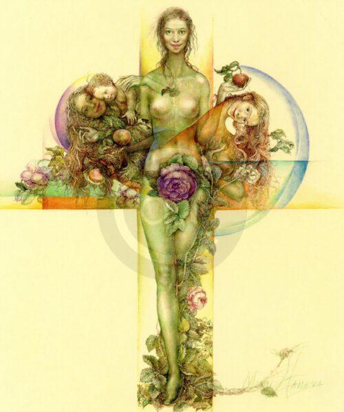 The Flower Mimi Staneva Bild Wasserfarbe