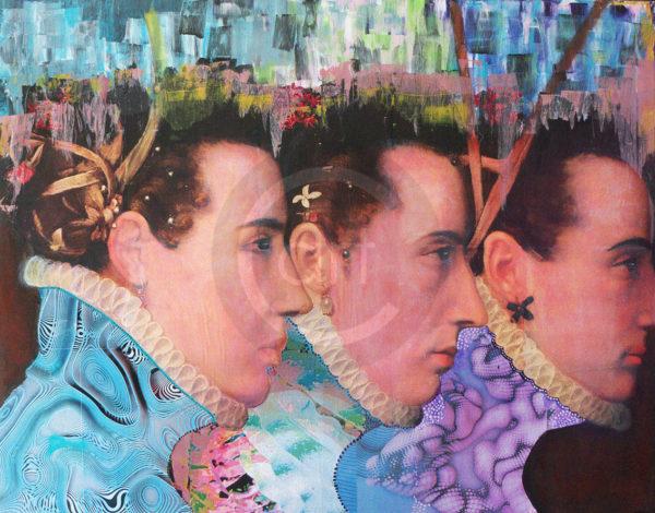 Trinity Patricia Frida Pictue Mixed Art