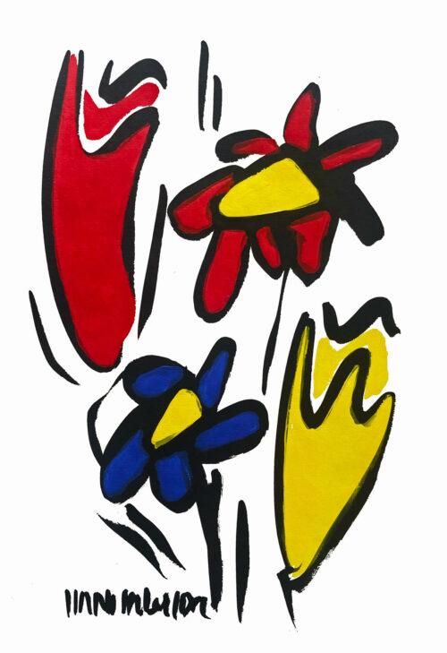 Hans Salcher Painting: Tulip meadow