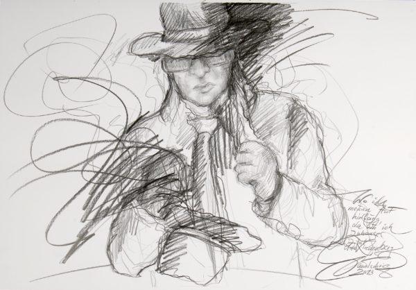 Udo lindenberg zeichnung karin ganatschnig