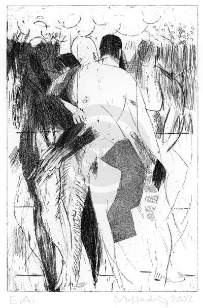 Ueber Koerper Nr 10 Michael Hedwig Bild Radierung