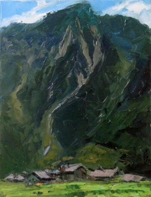 View Of Bovin Mountain Painting Sergey Sovkov