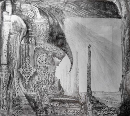 Otto Rapp Drawing: Waldrapp's Tomb