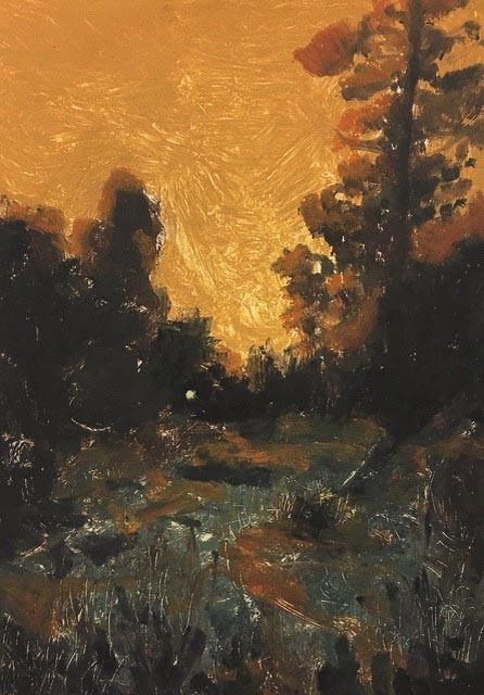 Winter Golden Hour Gideon Summerfield Painting